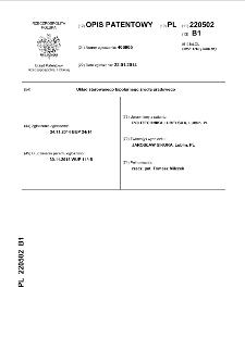 Układ sterowanego bipolarnego źródła prądowego : opis patentowy nr 220502