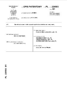 Sposób wytwarzania kołnierzy czołowych w kształcie dwuramiennej rozety : opis patentowy nr 220503
