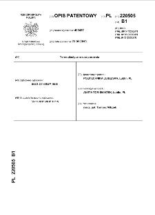 Termoplastyczna rura porowata : opis patentowy nr 220505