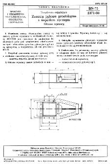 Urządzenia odpylające - Zasuwy pyłowe prostokątne z napędem ręcznym - Główne wymiary BN-75/2371-08