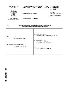 Sposób wyznaczania właściwości plastycznych materiałów metodą obciskania obrotowego dwoma walcami : opis patentowy nr 220753