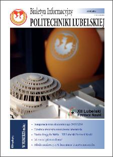 Biuletyn Informacyjny Politechniki Lubelskiej nr 40 - 3(40)2015