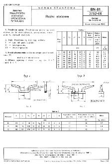 Rożki stalowe BN-81/3752-06
