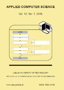 Applied Computer Science Vol. 12, No 1, 2016