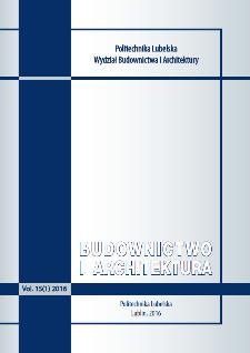 Budownictwo i Architektura Vol. 15(1)2016
