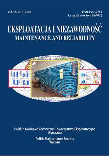 Eksploatacja i Niezawodność = Maintenance and Reliability Vol. 18 No. 3, 2016