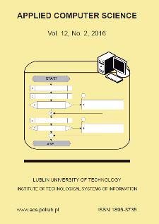 Applied Computer Science Vol. 12, No 2, 2016