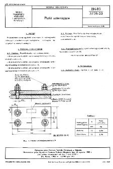 Płytki uziemiające BN-82/3725-23