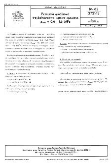 Przejścia grodziowe trzykołnierzowe kątowe spawane pnom=0,6 i 1,6 MPa BN-82/3731-15