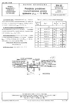 Przejścia grodziowe trzykołnierzowe proste spawane pnom=10 MPa BN-82/3731-16