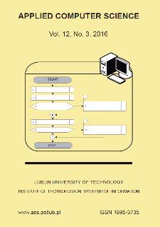 Applied Computer Science Vol. 12, No 3, 2016