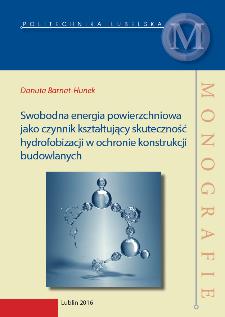 Swobodna energia powierzchniowa jako czynnik kształtujący skuteczność hydrofobizacji w ochronie konstrukcji budowlanych