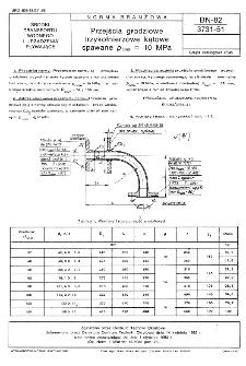 Przejścia grodziowe trzykołnierzowe kątowe spawane pnom=10 MPa BN-82/3731-51