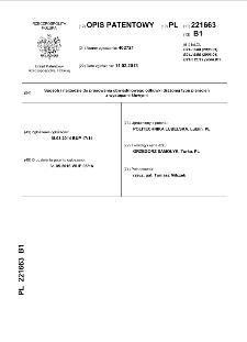 Sposób i narzędzie do prasowania obwiedniowego odkuwki drążonej typu pierścień z występami kłowymi : opis patentowy nr 221663
