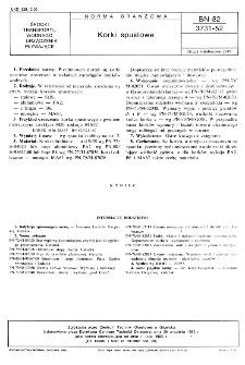 Korki spustowe BN-82/3731-52