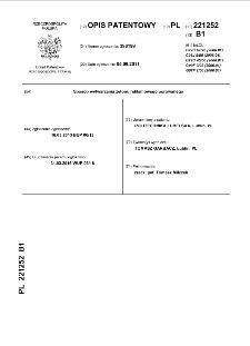 Sposób wytwarzania żetonu reklamowego porowanego : opis patentowy nr 221252