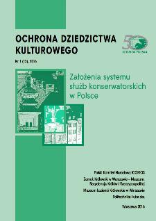 Założenia systemu służb konserwatorskich w Polsce