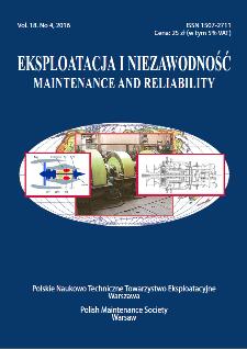 Eksploatacja i Niezawodność = Maintenance and Reliability Vol. 18 No. 4, 2016