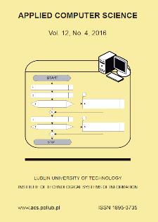 Applied Computer Science Vol. 12, No 4, 2016