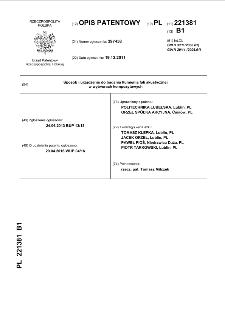 Sposób i urządzenie do badania tłumienia fali akustycznej w wytworach kompozytowych : opis patentowy nr 221381