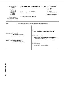 Sposób i urządzenie do wyciskania zewnętrznego kołnierza : opis patentowy nr 222169