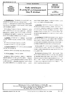 Kratki wentylacyjne do przegród przeciwpożarowych klasy B okrętowe BN-83/3723-04