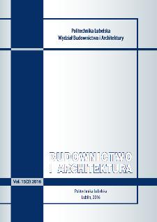 Budownictwo i Architektura Vol. 15(2)2016