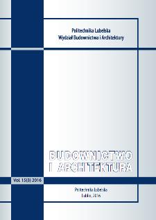 Budownictwo i Architektura Vol. 15(3)2016