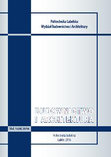Budownictwo i Architektura Vol. 15(4)2016