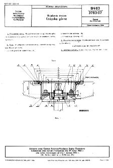 Urządzenia sterowe - Łożyska górne BN-83/3783-07