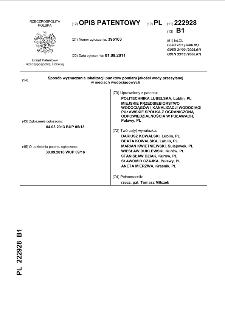 Sposób wyznaczania lokalizacji punktów pomiaru jakości wody przesyłanej w sieciach wodociągowych : opis patentowy nr 222928