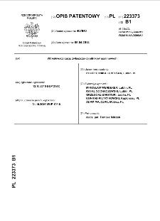 Wtryskiwacz gazu, zwłaszcza do silników spalinowych : opis patentowy nr 223373