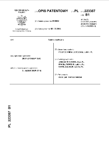 Taśma elastyczna : opis patentowy nr 223387
