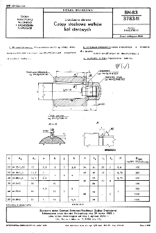 Urządzenia sterowe - Czopy stożkowe wałków kół sterowych BN 83/3783-11