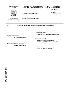 Uchwyt do mocowania próbki połączenia klejowego doczołowego : opis patentowy nr 223467