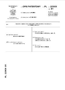 Sposób i urządzenie do kalibrowania kul trzema walcami śrubowymi w układzie pionowym : opis patentowy nr 223939