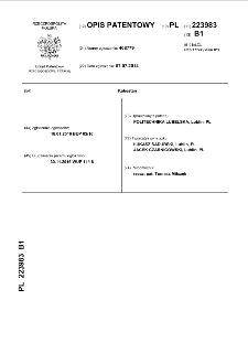Kabestan : opis patentowy nr 223983