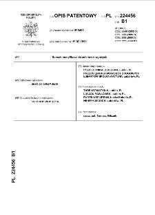Sposób modyfikowania asfaltów drogowych : opis patentowy nr 224456