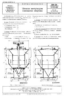 Głowice wentylacyjne nawiewowe okrętowe BN-84/3723-06
