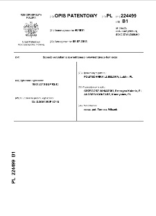 Sposób wyciskania zewnętrznego i wewnętrznego kołnierza : opis patentowy nr 224499