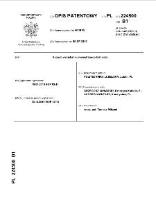 Sposób wyciskania wewnętrznego kołnierza : opis patentowy nr 224500