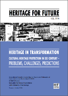 Heritage in transformation : cultural heritage protection in XXI century : problems, challenges, predictions