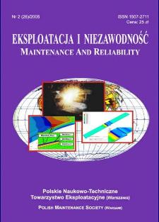 Eksploatacja i Niezawodność = Maintenance and Reliability Nr 2 (26)2005