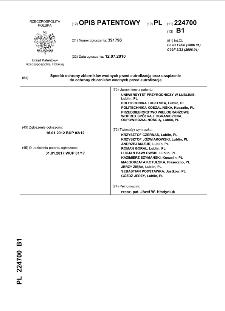 Sposób ochrony zbiorników wodnych przed eutrofizacją oraz urządzenie do ochrony zbiorników wodnych przed eutrofizacją \h [Dokument elektroniczny] : opis patentowy nr 224700