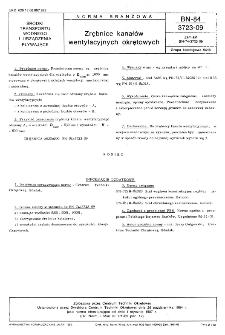 Zrębnice kanałów wentylacyjnych okrętowych BN-84/3723-09