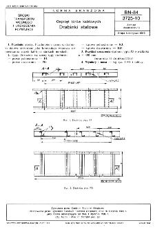 Osprzęt torów kablowych - Drabinki stalowe BN-84/3725-10