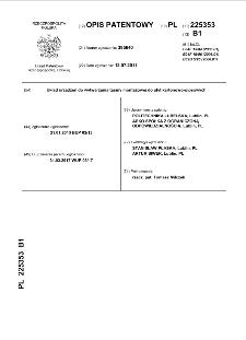 Układ urządzeń do wytwarzania taśmy montażowej do płyt kartonowo-gipsowych : opis patentowy nr 225353
