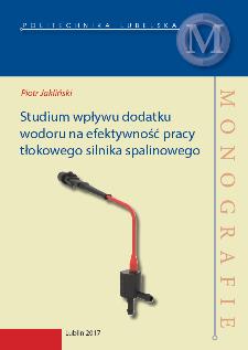 Studium wpływu dodatku wodoru na efektywność pracy tłokowego silnika spalinowego