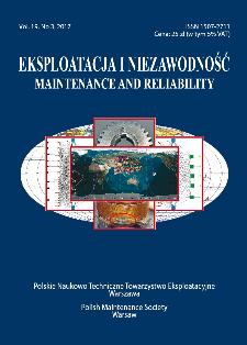 Eksploatacja i Niezawodność = Maintenance and Reliability Vol. 19 No. 3, 2017