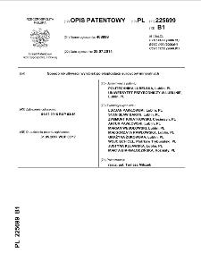 Sposób rekultywacji wyrobisk po eksploatacji surowców mineralnych : opis patentowy nr 225699